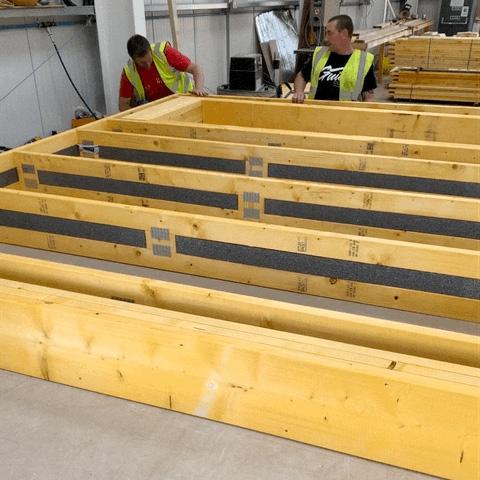 SpaceStud Stud Wall timber preparations